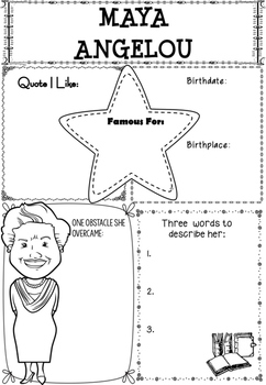 Graphic Organizer : Maya Angelou