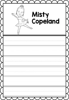 Graphic Organizer : Misty Copeland