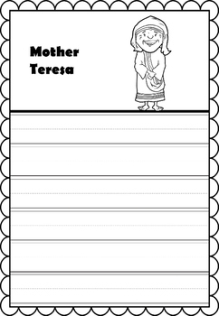 Graphic Organizer : Mother Teresa