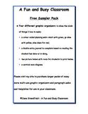 Graphic Organizer Multi Grade Language Arts Free Pack