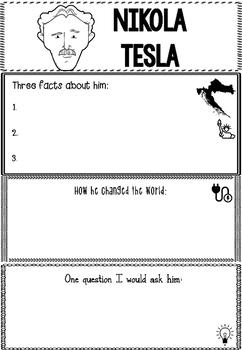 Graphic Organizer : Nikola Tesla