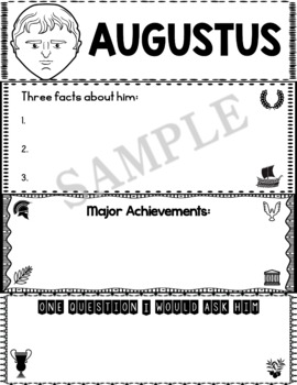 Graphic Organizer : Octavian (Augustus) - Ancient Civilizations Rome