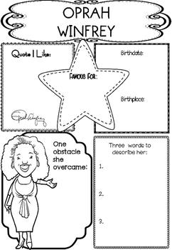 Graphic Organizer : Oprah Winfrey