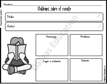 Freebie Graphic Organizer | Organizador gráfico | Story Elements
