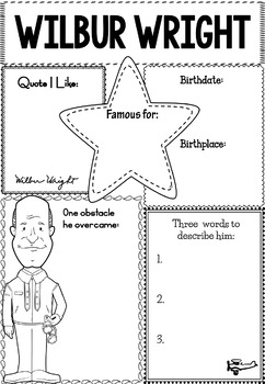 Graphic Organizer : Orville and Wilbur Wright - The Wright Brothers