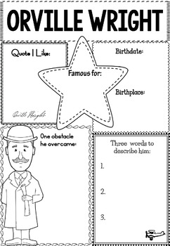 Graphic Organizer : Orville and Wilbur Wright - The Wright