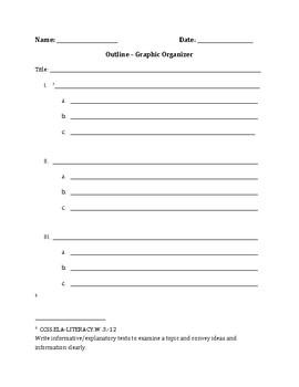 Graphic Organizer - Outline