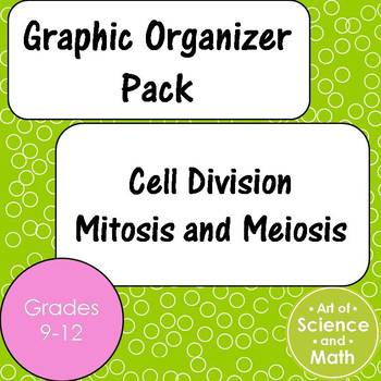 Graphic Organizer Pack - Cell Division Mitosis Meiosis - High School Science