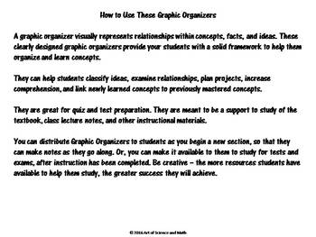 Graphic Organizer Pack - Chemical Reactions - High School Science