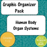 Graphic Organizer Pack - Human Body Organ Systems - Middle/High School Science