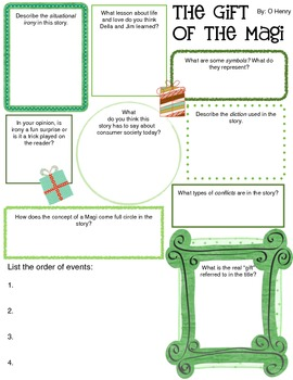 Graphic Organizer Packet for Four Short Stories (9th grade) 2
