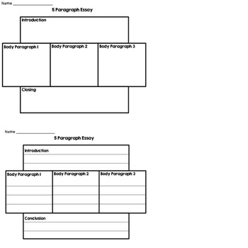 Graphic Organizer Paragraph and Essay