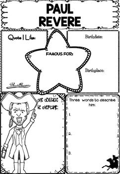 Graphic Organizer : Paul Revere