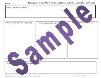 Graphic Organizer Plot, Problem, Solution-Draw/Write Story