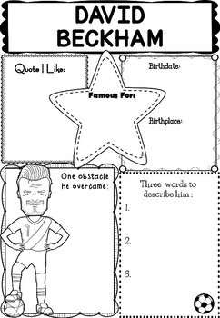 Graphic Organizer : Pro Athletes: David Beckham