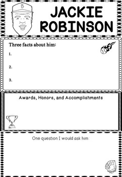 Graphic Organizer : Pro Athletes: Jackie Robinson