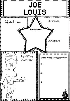 Graphic Organizer : Pro Athletes: Joe Louis