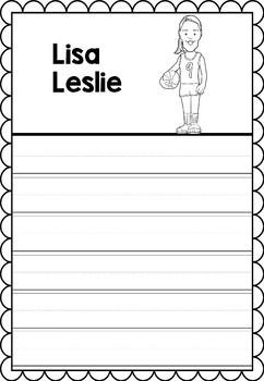 Graphic Organizer : Pro Athletes: Lisa Leslie