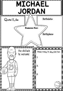 Graphic Organizer : Pro Athletes: Michael Jordan