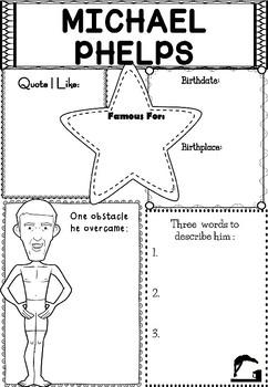 Graphic Organizer : Pro Athletes: Michael Phelps