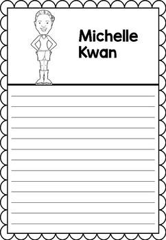 Graphic Organizer : Pro Athletes: Michelle Kwan