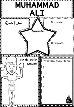 Graphic Organizer : Pro Athletes: Muhammad Ali