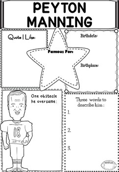 Graphic Organizer : Pro Athletes: Peyton Manning