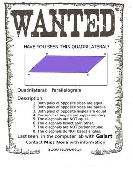 Graphic Organizer: Properties of Quadrilaterals