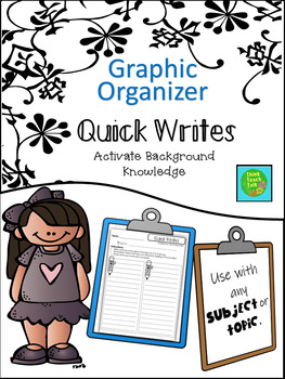 Graphic Organizer- Quick Writes