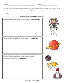 Graphic Organizer RL1.7 Illustrations