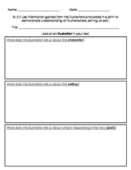 Graphic Organizer RL2.7 Understanding Illustrations