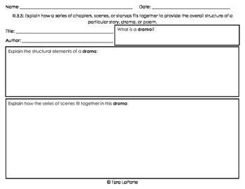 Graphic Organizer RL5.5 Explain Structure of Drama