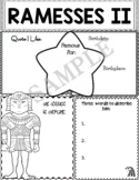 Graphic Organizer : Ramesses II (Ramses)  - Ancient Civilizations Egypt