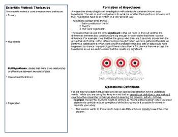 Graphic Organizer - Research Methods & Ethics