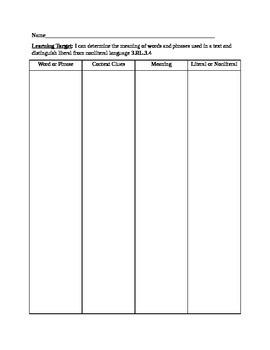 Graphic Organizer Resources Per RI and RL 3rd Grade Common Core Standard