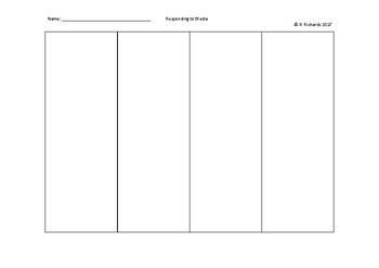 Graphic Organizer: Responding to Media
