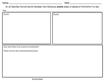 Graphic Organizer Ri1.3 Connecting Events