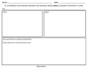 Graphic Organizer Ri1.3 Connecting Ideas