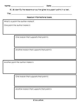 Graphic Organizer Ri1.8 Points & Reasons