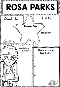 Graphic Organizer Rosa Parks Black History By The Lotus