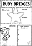 Graphic Organizer : Ruby Bridges, Black History Month