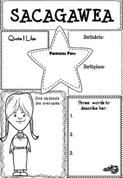 Graphic Organizer : Sacagawea