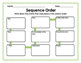 Graphic Organizer: Sequence Order of Events