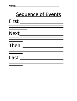 Graphic Organizer - Sequence of Events