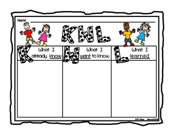 Graphic Organizer Set (KWL, Can/Have/Are, Compare/Contrast & More)