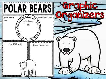 Graphic Organizers:  Polar Bears  - Polar and Arctic Animals
