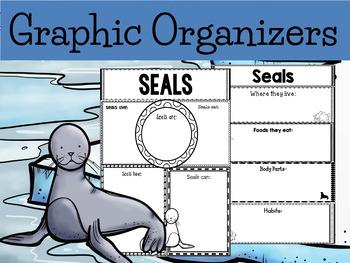 Graphic Organizers Bundle :  Seals - Polar and Arctic Animals