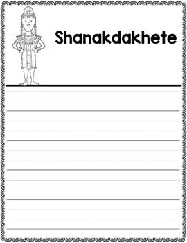 Graphic Organizer : Shanakdakhete  - Ancient Civilizations Africa