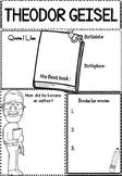 Graphic Organizer Set : Theodor Geisel, Dr. Seuss  : Awesome Authors