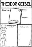 Graphic Organizer : Theodor Geisel, Dr. Seuss  : Awesome Authors
